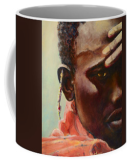 Coffee Mug featuring the painting Dignity by Sher Nasser