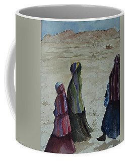 Dineh Leaving The Trading Post Coffee Mug