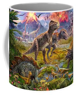Dinosaur Gathering Coffee Mug