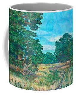 Coffee Mug featuring the painting Dirt Road Near Rock Castle Gorge by Kendall Kessler
