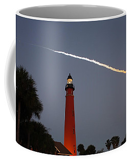 Discovery Booster Separation Over Ponce Inlet Lighthouse Coffee Mug