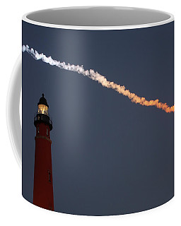 Coffee Mug featuring the photograph Discovery Sunset Plume by Paul Rebmann
