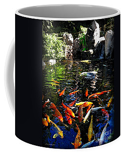 Disney Epcot Japanese Koi Pond Coffee Mug by Joan  Minchak