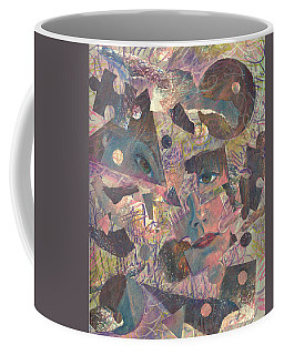 Distraction A Self Portrait Coffee Mug by Melinda Dare Benfield