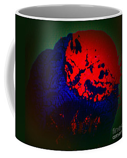 Coffee Mug featuring the painting Divide by Jacqueline McReynolds