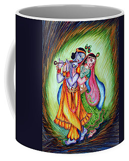 Coffee Mug featuring the painting Divine Lovers by Harsh Malik