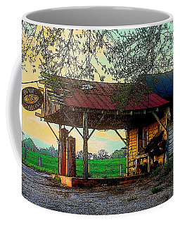 Coffee Mug featuring the photograph Dixie Oil And Gasoline by Rodney Lee Williams