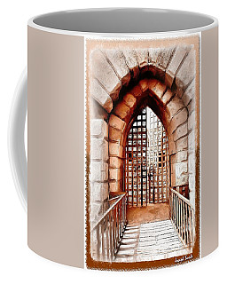 Coffee Mug featuring the photograph Do-00424 Portail Of Citadel Sidon by Digital Oil