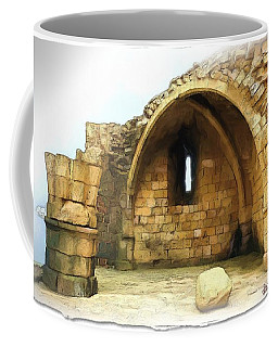 Coffee Mug featuring the photograph Do-00427 Citadel Of Sidon by Digital Oil