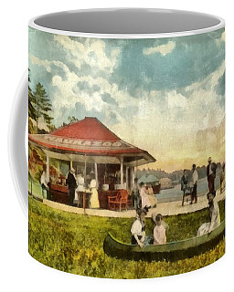 Dock At Waukazoo Holland Michigan Coffee Mug