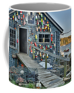 Dock House In Maine Coffee Mug
