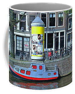Coffee Mug featuring the photograph Docked In Amsterdam by Allen Beatty