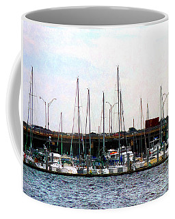Coffee Mug featuring the photograph Docked Boats Norfolk Va by Susan Savad
