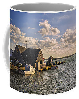 Docked Boats Woods Hole Cape Cod Ma  Coffee Mug