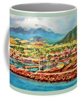 Coffee Mug featuring the mixed media Docked In St. Kitts by Deborah Boyd