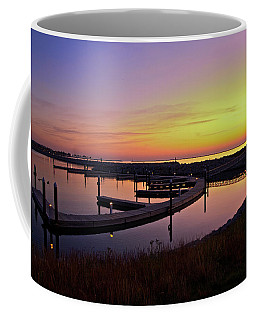 Coffee Mug featuring the photograph Docks At Sunrise by Jonah  Anderson