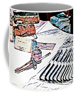 Coffee Mug featuring the photograph Doctor - Medical Instruments by Susan Savad