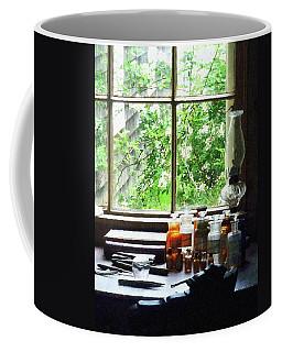 Coffee Mug featuring the photograph Doctor - Medicine And Hurricane Lamp by Susan Savad
