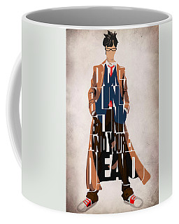Doctor Who Inspired Tenth Doctor's Typographic Artwork Coffee Mug