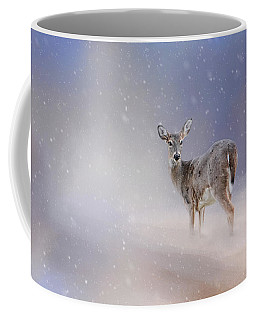 Doe In The Snow Coffee Mug
