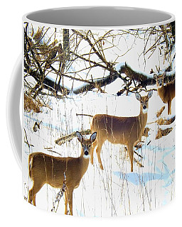 Does In The Snow Coffee Mug