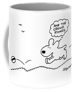 Dog Chases After A Ball Coffee Mug