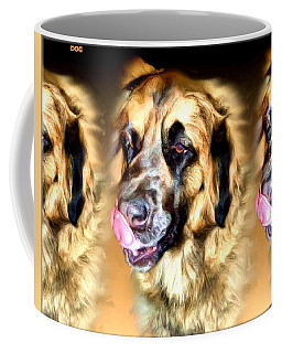 Coffee Mug featuring the digital art Dog by Daniel Janda