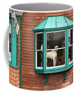 Dog In Window Coffee Mug