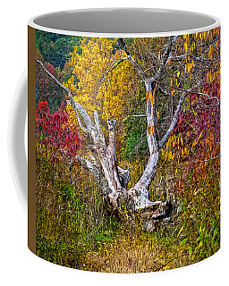 Coffee Mug featuring the digital art Dog Tree by Mary Almond