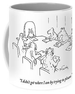 Dogs At A Meeting Coffee Mug