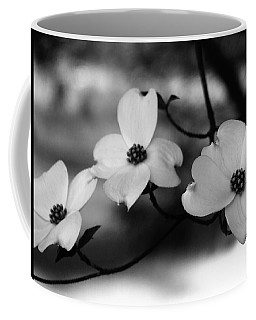 Dogwood Black And White Coffee Mug