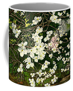 Coffee Mug featuring the painting Dogwoods Virginia by Melly Terpening