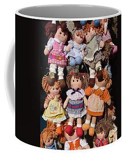 Coffee Mug featuring the photograph Dolls by Marcia Socolik
