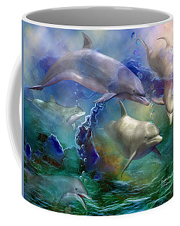 Dolphin Dream Coffee Mug by Carol Cavalaris