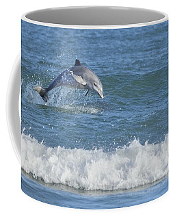 Dolphin In Surf Coffee Mug