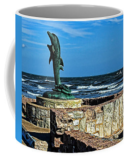 Dolphin Statue Coffee Mug by Judy Vincent