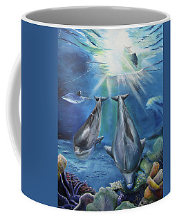 Dolphins Playing Coffee Mug