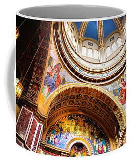 Coffee Mug featuring the photograph Dome Of St. Matthews Washington Dc by John S