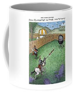 Don Quixote In The Hamptons Coffee Mug