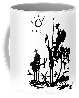 Coffee Mug featuring the painting Don Quixote by Michelle Dallocchio