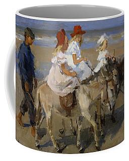 Donkey Rides Along The Beach Coffee Mug