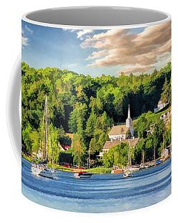 Door County Ephraim Harbor Sunset  Panorama Coffee Mug