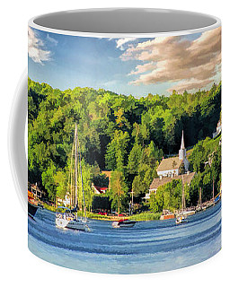 Door County Ephraim Harbor Sunset  Panorama Coffee Mug