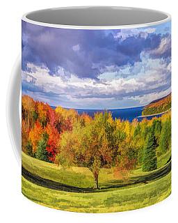 Door County Grand View Scenic Overlook Panorama Coffee Mug