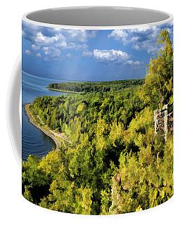 Door County Peninsula State Park Svens Bluff Overlook Coffee Mug