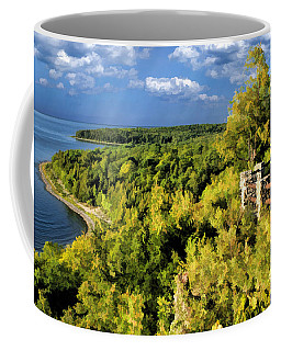 Door County Peninsula State Park Svens Bluff Overlook Coffee Mug