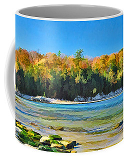 Door County Wisconsin Bay Panorama Coffee Mug