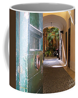 Door In Florence Coffee Mug