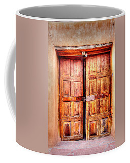 Doors To The Inner Santuario De Chimayo Coffee Mug by Lanita Williams