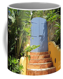 Coffee Mug featuring the photograph Doorway To Paradise by Fiona Kennard